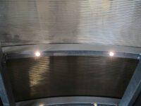 Carport Konstruktion mit Einbaustrahlern