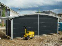Carport Konstruktion Runddach