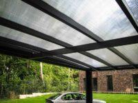 Design-Carport Dach Polycarbonat