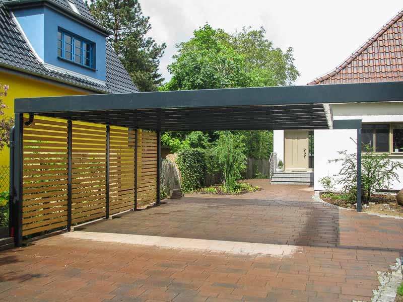 Design-Carport Holzwaende