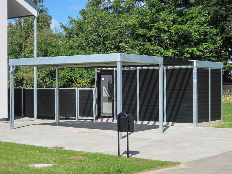 Design carport im kubus format cartop for Preis carport