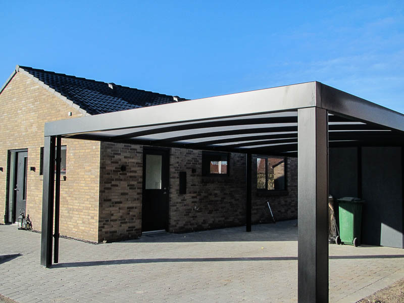 Design-Carport Stahl Pulverbeschitet