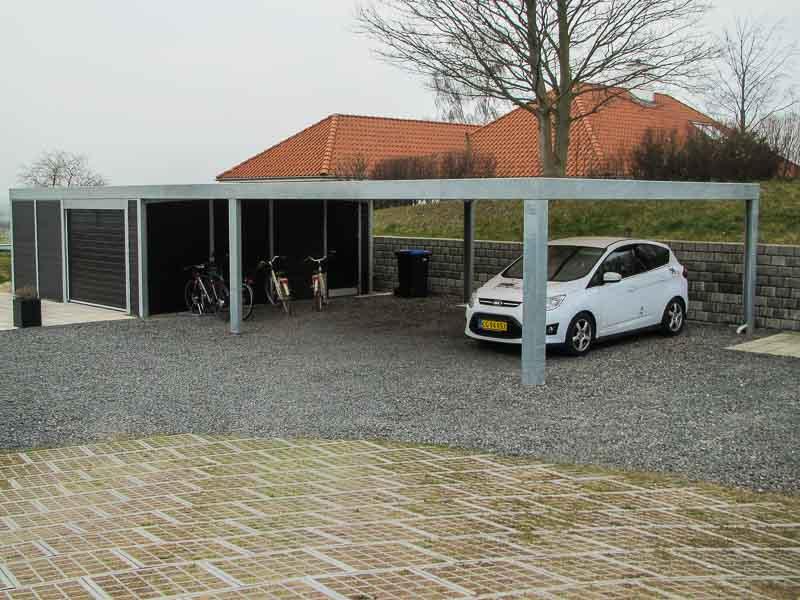Design-Carport Stahl feuerverzinkt