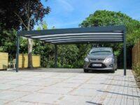 Design-Carport pulverbeschichtet