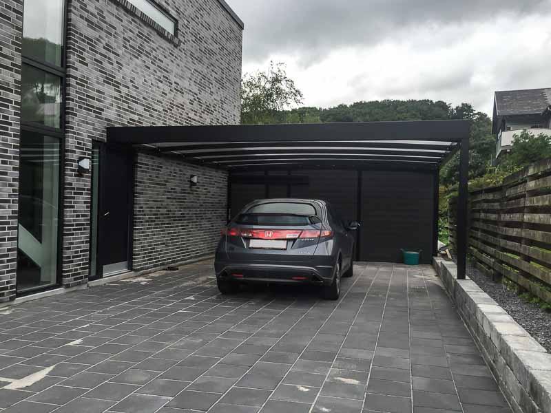 Designer-Carport Anbau