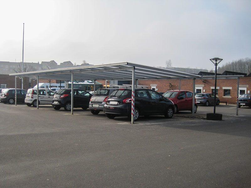 Reihencarport Parktplatz