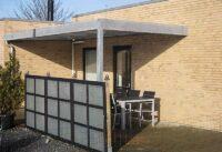 Terrassenueberdachung Stahl Flachdach
