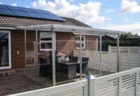 Terrassenueberdachung Stahl Plexiglas Seitenwaende