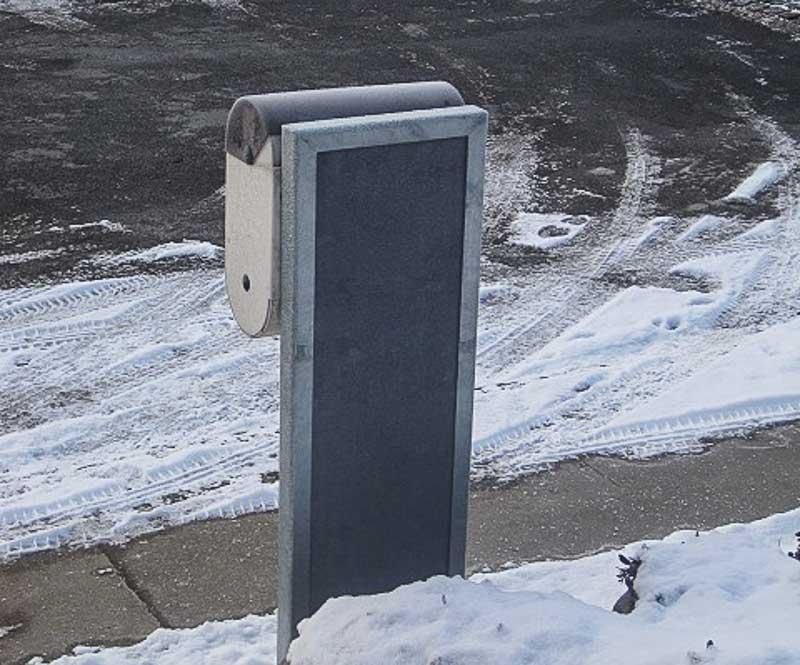 Sichtschutz als Briefkastenhalter