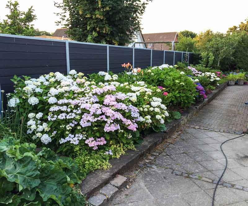 Sichtschutzwand Garten Beet