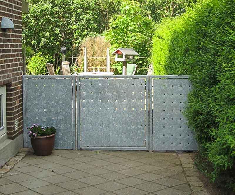 Sichtschutzwand-Garten Gartentor