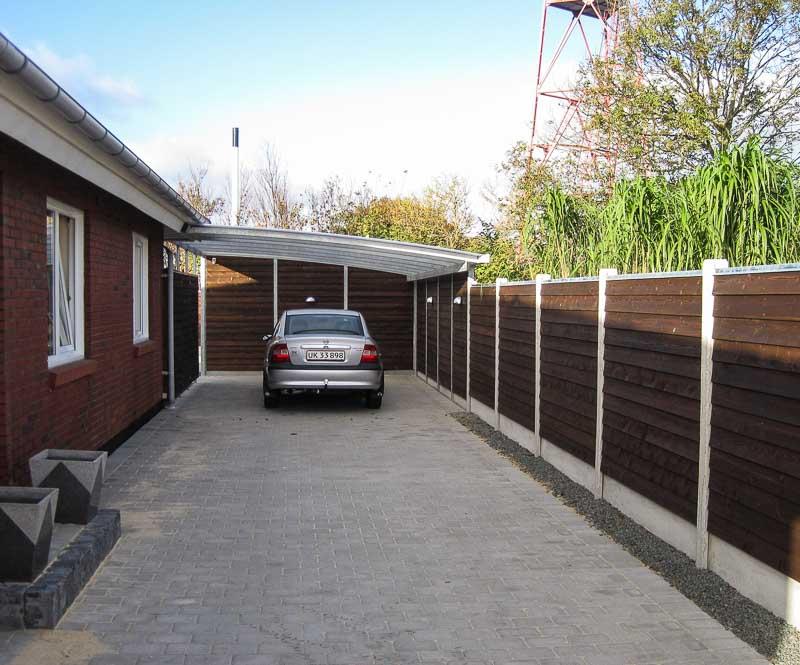 Sichtschutzwand Garten am Carport