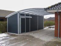 Stahl-Carport mit Abstellraum