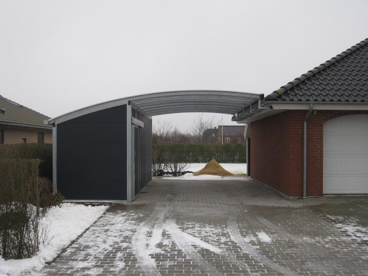 Bogendach Carport