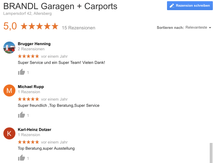 Carport Nürnberg Brandl Bewertungen
