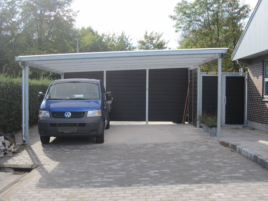 Carport Hamburg Carport Nord – Doppelcarport mit Pultdach